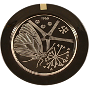 Lalique Crystal 1969 �Papillon�  Butterfly Annual Plate  Fifth in a Series