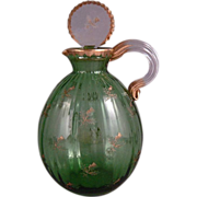 Daum Nancy Ducal Service Liquor Decanter Carafe with Thistle  Circa 1885