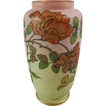 Thomas Webb & Sons Queen�s Burmese Ware Patented Vase with English Roses