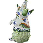 Desvres Mosanic Pottery Max Emanuel & Co. French Faience Figural Pig Vase