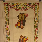 Vintage Royal Doulton Balloon Man Kitchen Towel