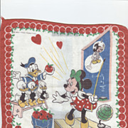 SALE Vintage Disney Minnie, Donald & Nephews Hanky