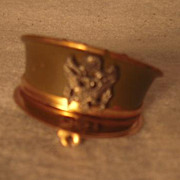 WW II Sweetheart Artillery Hat Locket Pin