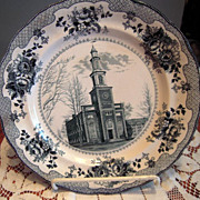 Hamilton College Commemorative Plate by Buffalo Pottery c. 1905