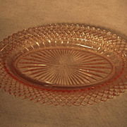 SALE Hocking Miss America Pink Oval Celery Dish