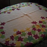 Pride of Flanders Maple Leaf Tablecloth