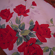 Vintage Wilendur Royal Rose Tablecloth