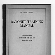 WWI US Bayonet Training Manual