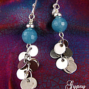 SALE Reflections - Earrings of Stones and Sterling