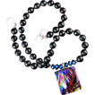 Rainbow Magic - Handmade Necklace of Dichroic Glass and Black Onyx