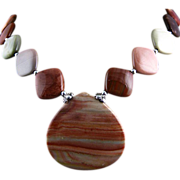 SALE Imperial - Handcrafted Necklace of  Jasper and Sterling Silver