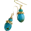 Gypsy Turquoise Earrings with AA grade stones.