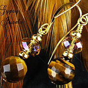 Golden Tiger Eye Handmade Drop Earrings