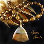 SALE Succor Creek Jasper Handmade Pendant Necklace