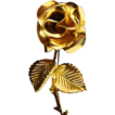 Vintage golden Rose Pin