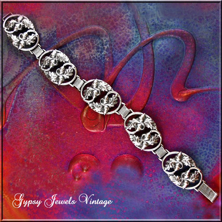 Vintage Danecraft Sterling Bracelet with Acorns and Oak Leaves.
