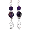 Shooting Star Earrings with Sterling and Amethyst