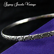 SOLD Vintage Sterling Silver Bangle Bracelet