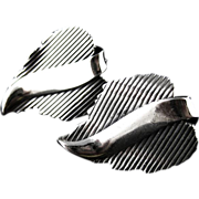 Vintage Danecraft Modernist Sterling Earrings