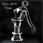 SOLD Vintage Sterling Silver 1940's Country Pump Charm