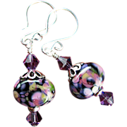 Divinely Purple Earrings with Sterling Silver