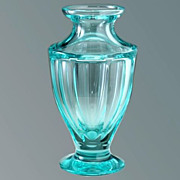 1957 Moser Beryl Facet Cut Crystal Vase