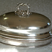 REDUCED Old Sheffield Silverplate Meat Cover 1836