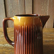 SALE Gorgeous Old Shaded Stoneware Milk Pitcher