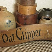 Unusual Old Woodenware OAT CLIPPER Sign