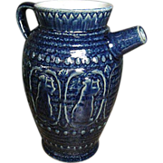 REDUCED Fabulous Old Stoneware Batter Jug ~ Cobalt Blue Glaze