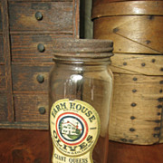 Grannys Old 'Farm House Olives' Glass Jar - Advertising - Reid, Murdoch & Co.
