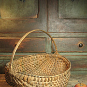 Early Old Splint Farmhouse Egg Basket
