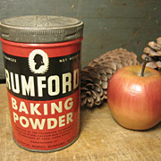 Old Vintage Rumford Baking Powder Advertising Tin  Rhode Island