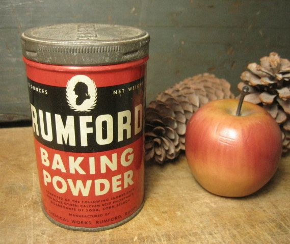 Old Vintage Rumford Baking Powder Advertising Tin &ndash; Rhode Island