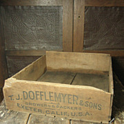 Old Primitive Wooden Fruit Crate Box  Dofflemyer & Sons Advertising