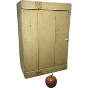 Wonderful Old Primitive Wooden Hand Made Wall Cabinet � Old Paint