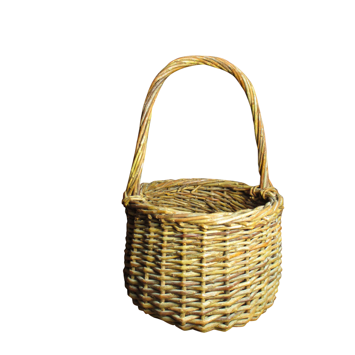 Sweet Little Vintage Wicker Basket with Handle from hannahshouseantiques on Ruby Lane