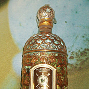 SALE Large Vintage Guerlain Sealed Imperiale Cologne Golden Bee Bottle
