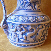 SALE Gorgeous Vintage Mermaid & Cherub Water Babies Ocean  Water Pitcher