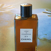 SALE Large Vintage Chanel No 5 Original Perfume 8 Oz Bottle Unused