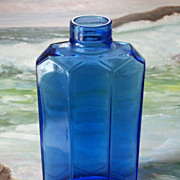 SALE Extremely Rare Houbigant Cobalt Blue Glass Perfume Bottle