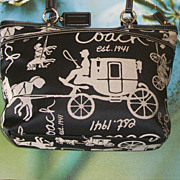 SALE Beautiful Genuine Coach Horse Carriage Purse Labeled