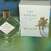 SALE Rare Worth Je Reviens 80 Perfume Bottle & Box