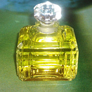 "SALE Art Deco Vintage Caron Bellodgia Crystal Perfume Bottle=3 3/4"" H"
