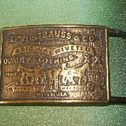 SALE Vintage Levi Strauss Solid Brass Belt Buckle=Excellent
