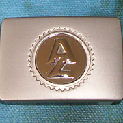 SALE Pewter AZ Belt Buckle