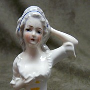 German Porcelain Half Doll - #4344