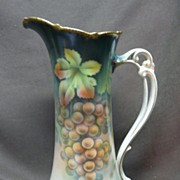 SALE Antique Hand Painted Bavarian Tankard Pitcher