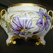 SALE Antique 1895 Limoges Hand Painted Fernier Planter Jardiniere