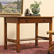 Quaint by Stickley Oak 1905 Antique Library Table or Desk